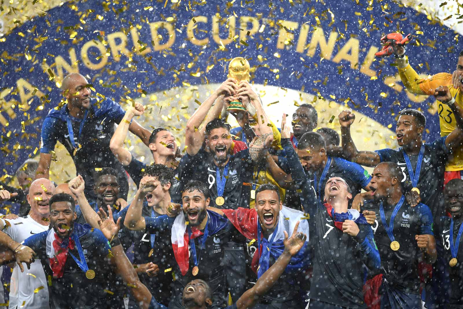 World Cup 2018 - France with the world cup