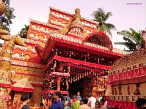 One of the beautiful pandals in Cooch Behar