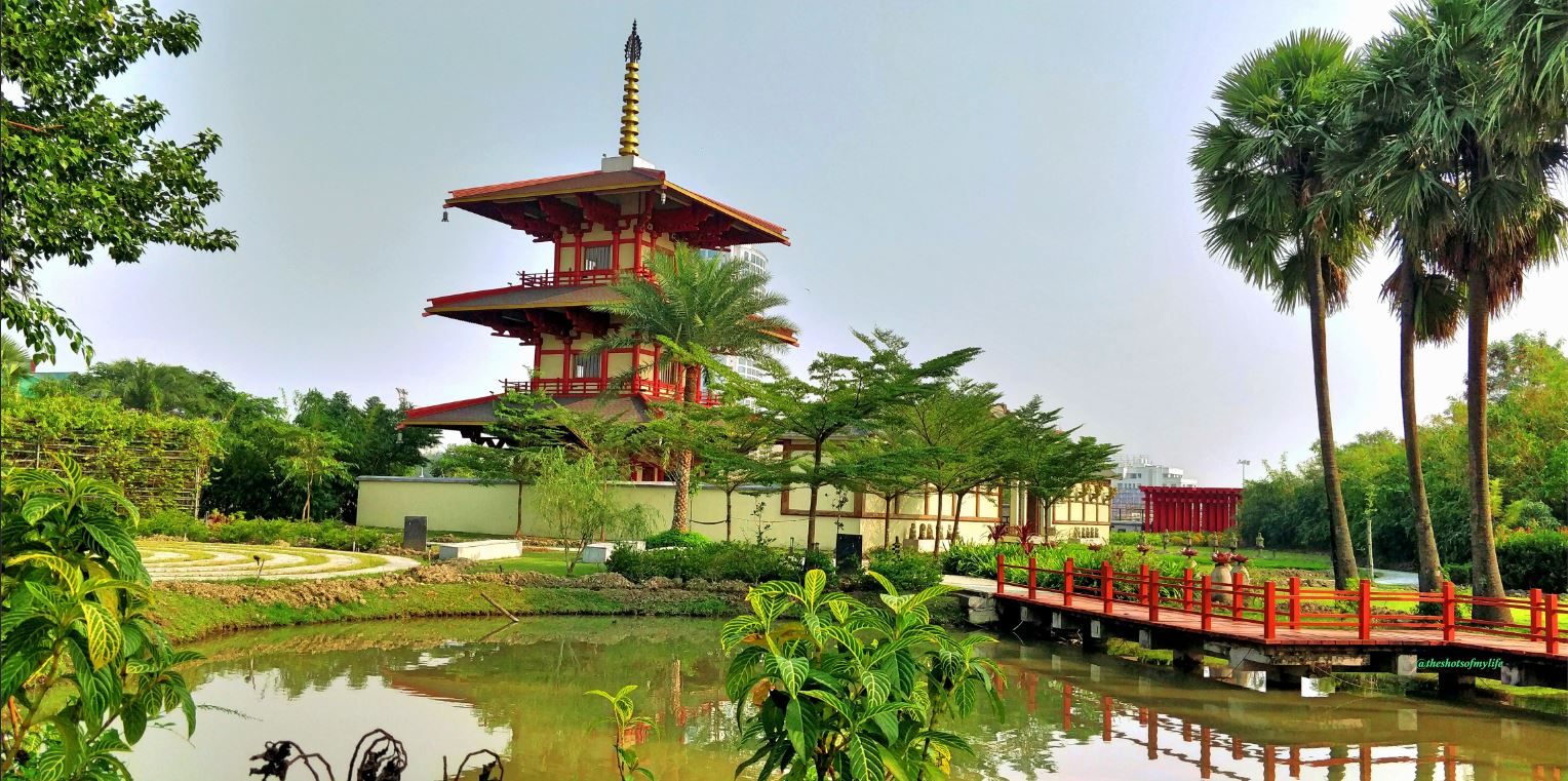 Japanese Pagoda with its surroundings