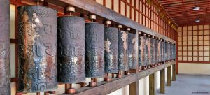 The prayer wheels of the monastery