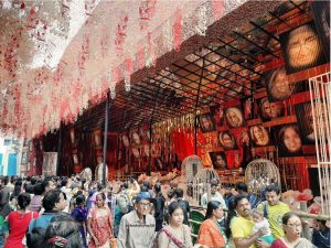 Crowds out for pandal hopping